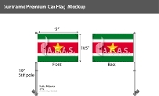 Suriname Car Flags 10.5x15 inch Premium