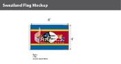 Swaziland Flags 4x6 foot