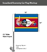 Swaziland Car Flags 12x16 inch Economy
