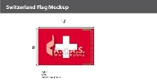 Switzerland Flags 8x12 foot