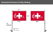 Switzerland Car Flags 10.5x15 inch Premium
