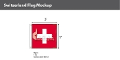 Switzerland Flags 3x3 foot