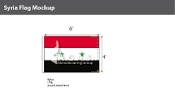 Syria Flags 4x6 foot
