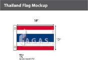 Thailand Flags 12x18 inch