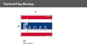 Thailand Flags 8x12 foot