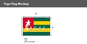 Togo Flags 2x3 foot
