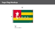 Togo Flags 8x12 foot
