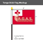 Tonga Stick Flags 4x6 inch