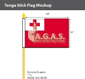 Tonga Stick Flags 12x18 inch