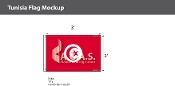 Tunisia Flags 2x3 foot