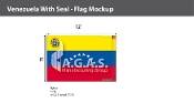 Venezuela Flags 8x12 foot (with seal)
