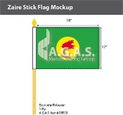 Zaire Stick Flags 12x18 inch