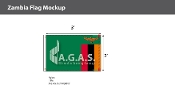 Zambia Flags 2x3 foot