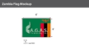 Zambia Flags 4x6 foot