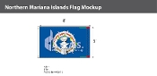 Northern Mariana Islands Flags 5x8 foot