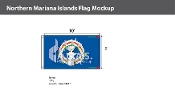 Northern Mariana Islands Flags 6x10 foot