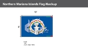 Northern Mariana Islands Flags 8x12 foot