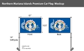 Northern Mariana Islands Car Flags 10.5x15 inch Premium