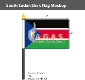 Sudan South Stick Flags 4x6 inch
