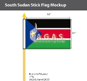 Sudan South Stick Flags 12x18 inch