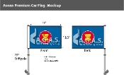 Asean Car Flags 10.5x15 inch Premium