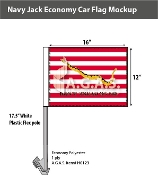 First Navy Jack Car Flags 12x16 inch Economy