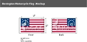 Bennington Motorcycle Flags 6x9 inch