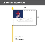 Christian Stick Flags 12x18 inch