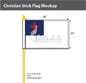 Christian Stick Flags 24x36 inch