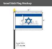 Israel Stick Flags 4x6 inch