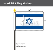 Israel Stick Flags 24x36 inch