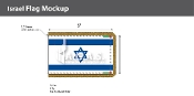 Israel Ceremonial Flags 3x5 foot
