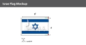 Israel Flags 4x6 foot