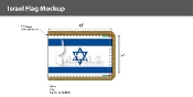 Israel Ceremonial Flags 4x6 foot