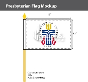 Presbyterian Stick Flags 12x18 inch