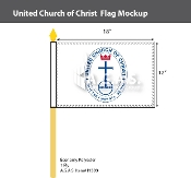 United Church of Christ Stick Flags 12x18 inch