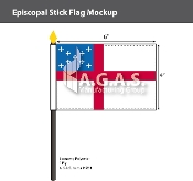 Episcopal Stick Flags 4x6 inch