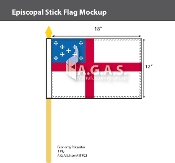 Episcopal Stick Flags 12x18 inch
