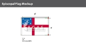 Episcopal Flags 4x6 foot