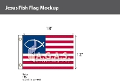 Jesus Fish Flags 12x18 inch