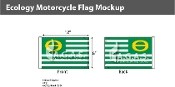 Ecology Motorcycle Flags 6x9 inch