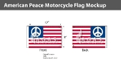 American Peace Motorcycle Flags 6x9 inch