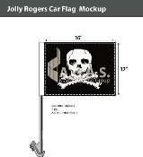Jolly Roger Car Flags 12x16 inch Economy
