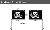 Jolly Roger Car Flags 10.5x15 inch Premium
