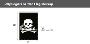 Jolly Roger Garden Flags 18x12 inch