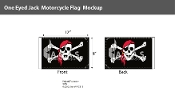 One Eyed Jack Motorcycle Flags 6x9 inch
