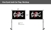 One Eyed Jack Car Flags 10.5x15 inch Premium