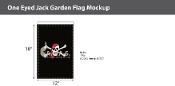 One Eyed Jack Garden Flags 18x12 inch