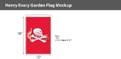 Henry Every Garden Flags 18x12 inch
