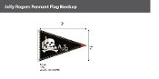 Jolly Roger Pennant Flags 2x3 foot